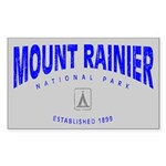 Mount Rainier National Park (Arch) Sticker (Rectan
