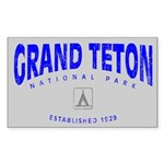 Grand Teton National Park (Arch) Sticker (Rectangu
