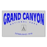 Grand Canyon Park (Arch) Sticker (Rectangul