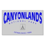 Canyonlands National Park (Arch) Sticker (Rectangu