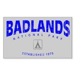 Badlands National Park (Arch) Sticker (Rectangular