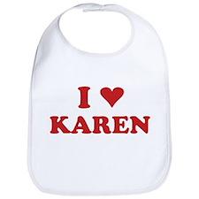 I LOVE KAREN Bib