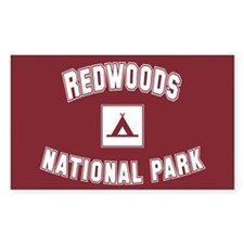 Redwoods National Park Rectangle Decal