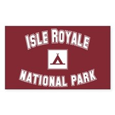 Isle Royale National Park Rectangle Decal