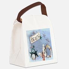 beach coral sea shells  Canvas Lunch Bag