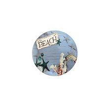 beach coral sea shells  Mini Button