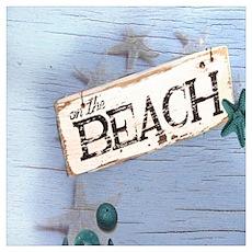 beach coral sea shells Poster