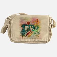 sunrise beach surfer Messenger Bag