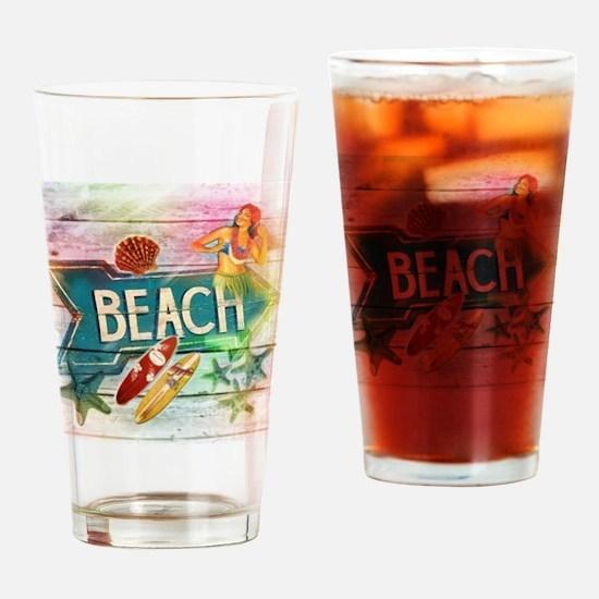 sunrise beach surfer Drinking Glass