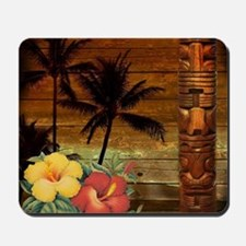 totem Hawaiian Hibiscus Flower Mousepad