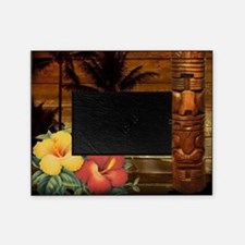 totem Hawaiian Hibiscus Flower Picture Frame