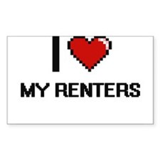 I Love My Renters Decal