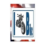 I Bike Mini Poster Print
