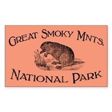 Great Smoky Mnts. (Beaver) Rectangle Decal