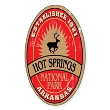 Hot Springs National Park Oval Decal