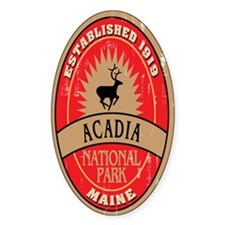 Acadia National Park Oval Decal