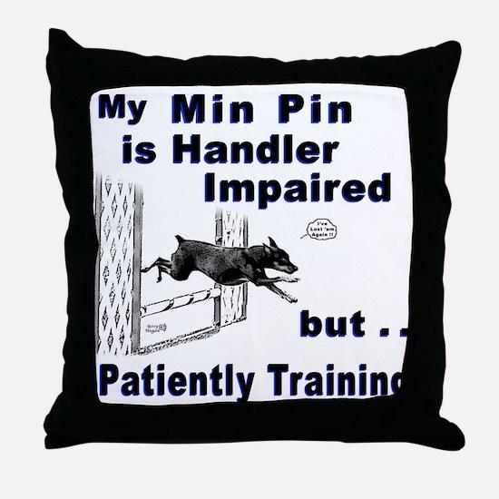 Min Pin Agility Throw Pillow