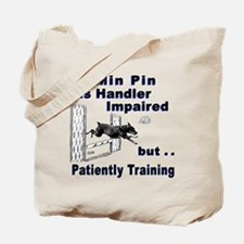 Min Pin Agility Tote Bag