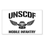 UNSCDF Mobile infantry Rectangle Sticker