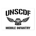 UNSCDF Mobile infantry Postcards (Package of 8)