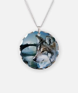 romantic moonlight wild wolf Necklace