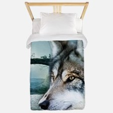 romantic moonlight wild wolf Twin Duvet