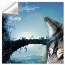 romantic moonlight wild wolf Wall Decal