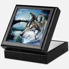 romantic moonlight wild wolf Keepsake Box
