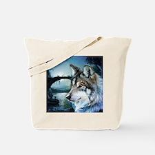 romantic moonlight wild wolf Tote Bag