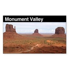 Monument Valley Rectangle Decal