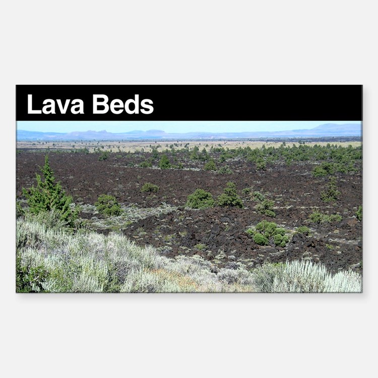 Lava Beds National Monument Rectangle Decal