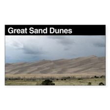 Great Sand Dunes National Par Sticker (Rectangular