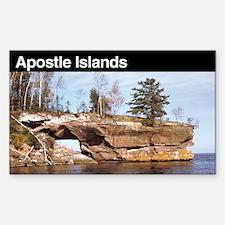 Apostle Islands National Lake Sticker (Rectangular