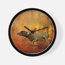 vintage hunting pointer dog Wall Clock