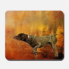 vintage hunting pointer dog Mousepad