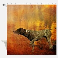 vintage hunting pointer dog Shower Curtain