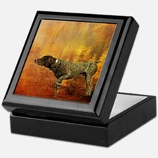 vintage hunting pointer dog Keepsake Box