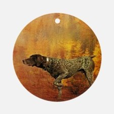 vintage hunting pointer dog Round Ornament
