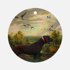 vintage hunting pointer dog Round Ornament