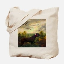 vintage hunting pointer dog Tote Bag