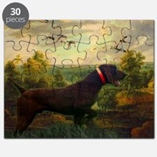 vintage hunting pointer dog Puzzle