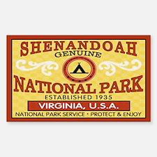 Shenandoah National Park Rectangle Decal