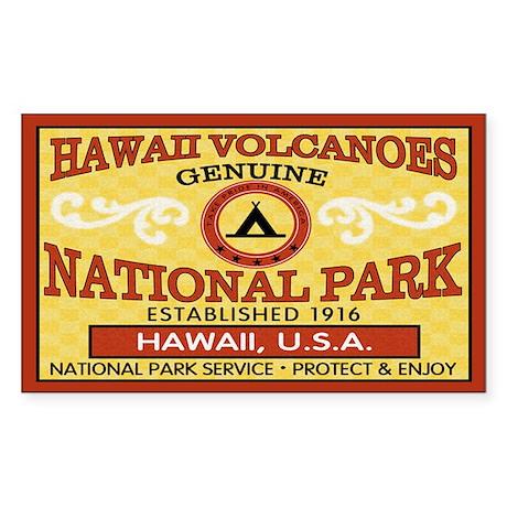 Hawaii Volcanoes NationalParkRectangle Sticker