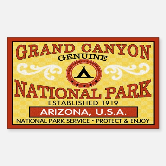 Grand Canyon National Park Rectangle Decal