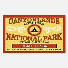 Canyonlands National Park Rectangle Decal