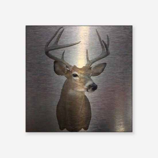 """grunge texture western deer Square Sticker 3"""" x 3"""""""