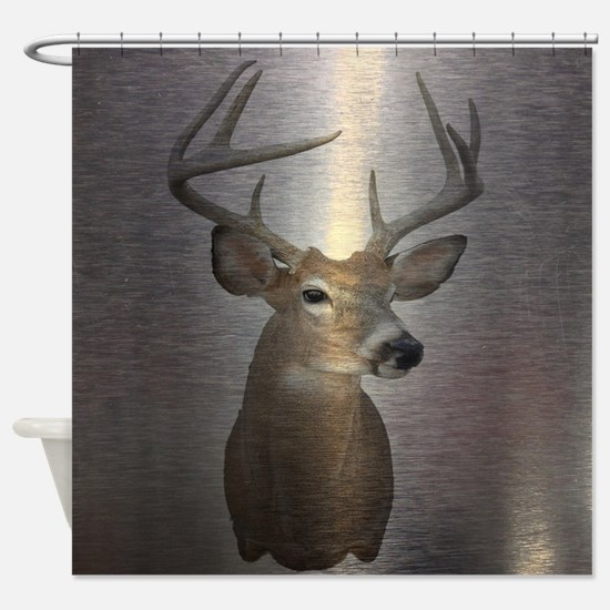 grunge texture western deer Shower Curtain