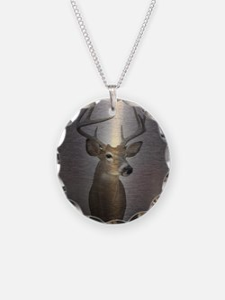 grunge texture western deer Necklace