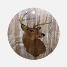 rustic western country deer Round Ornament
