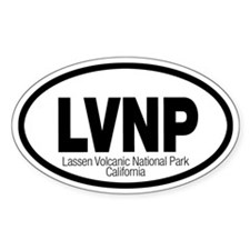 Lassen Volcanic National Park Oval Decal